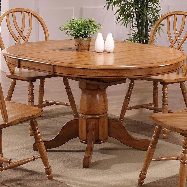 Missouri Round Dining Table (Rustic Oak) Eci Furniture | Furniturepick For Current Rustic Oak Dining Tables (Image 8 of 20)