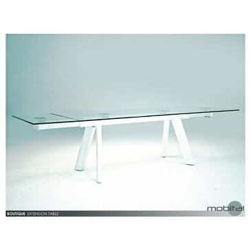 Mobital Boutique Extending Dining Table In Clear Tempered Glass With Regard To Latest High Gloss Extending Dining Tables (View 6 of 20)