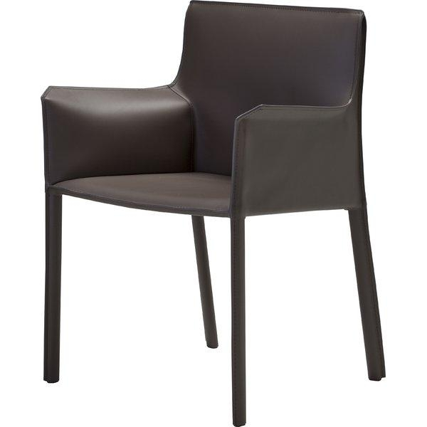 Mobital Fleur Genuine Leather Upholstered Dining Chair & Reviews Regarding Real Leather Dining Chairs (Image 12 of 20)