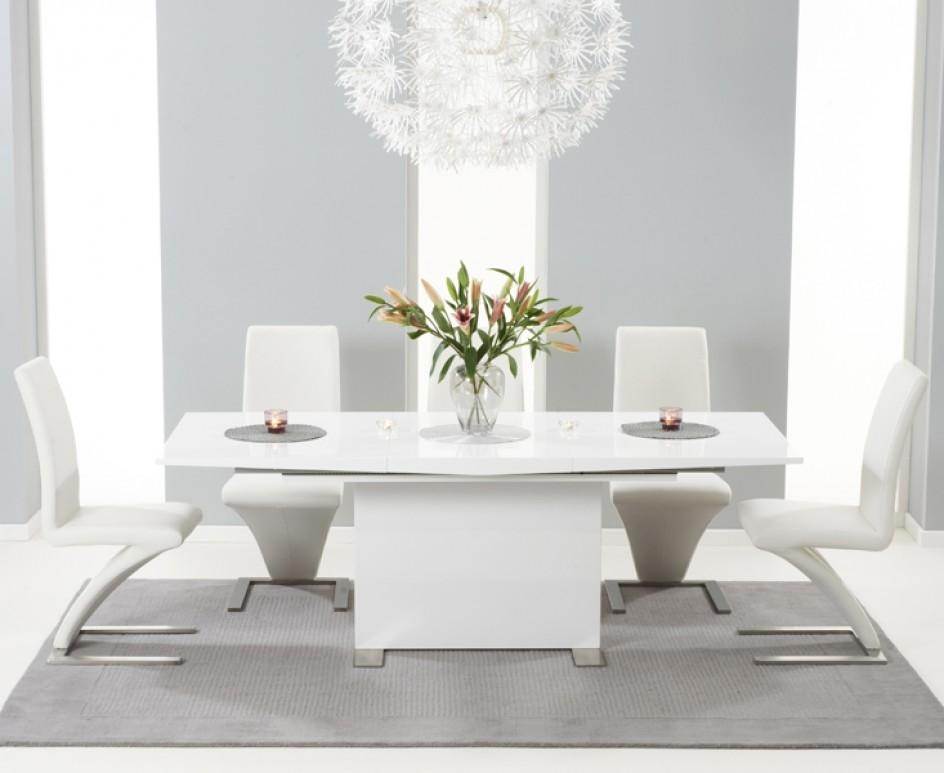Modena 150Cm White High Gloss Extending Dining Table With With Most Recently Released Oval White High Gloss Dining Tables (Image 11 of 20)