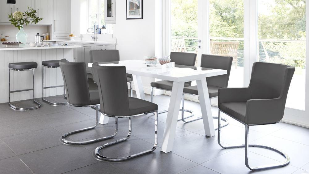 Modern 6 Seater White Gloss Dining Table Set| Uk Throughout White Gloss Dining Tables And 6 Chairs (Image 9 of 20)