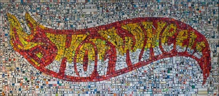Modern Art Monday: A 4,400 Car Hot Wheels Mosaic | Hooniverse Inside Hot Wheels Wall Art (Image 20 of 20)
