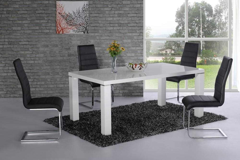 Modern Decoration White High Gloss Dining Table Luxury Idea White Throughout Recent Hi Gloss Dining Tables Sets (Image 14 of 20)