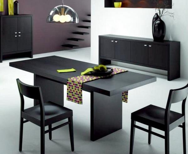 Modern Design Modern Black Dining Table Innovation Inspiration Throughout Most Recent Black Dining Tables (Image 18 of 20)