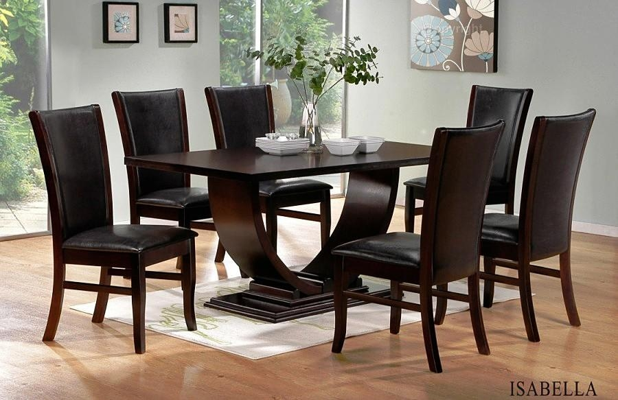 Modern Dining Room Set With Most Popular Dark Solid Wood Dining Tables (Image 17 of 20)