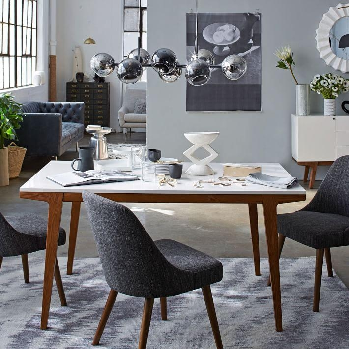 Modern Dining Table | West Elm Intended For Latest White Dining Tables (View 12 of 20)