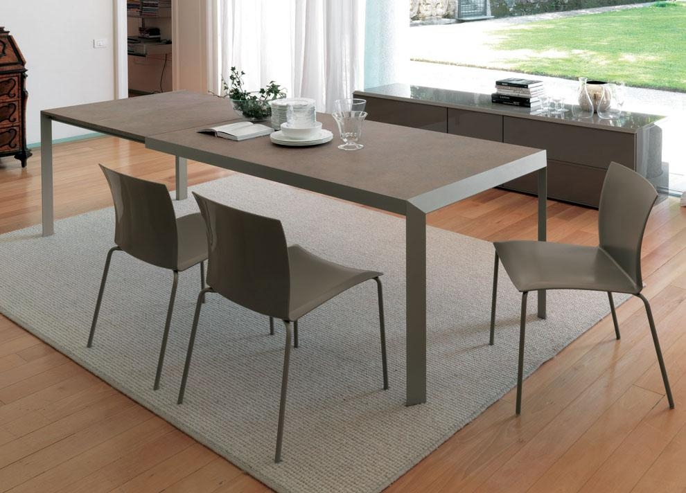 Modern Extendable Dining Table Design With Regard To Latest Extending Dining Sets (Image 17 of 20)