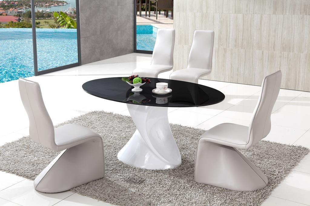 Modern Glass Dining Room Tables Glass Dining Room Tables Modern Pertaining To Most Current Smoked Glass Dining Tables And Chairs (Image 15 of 20)