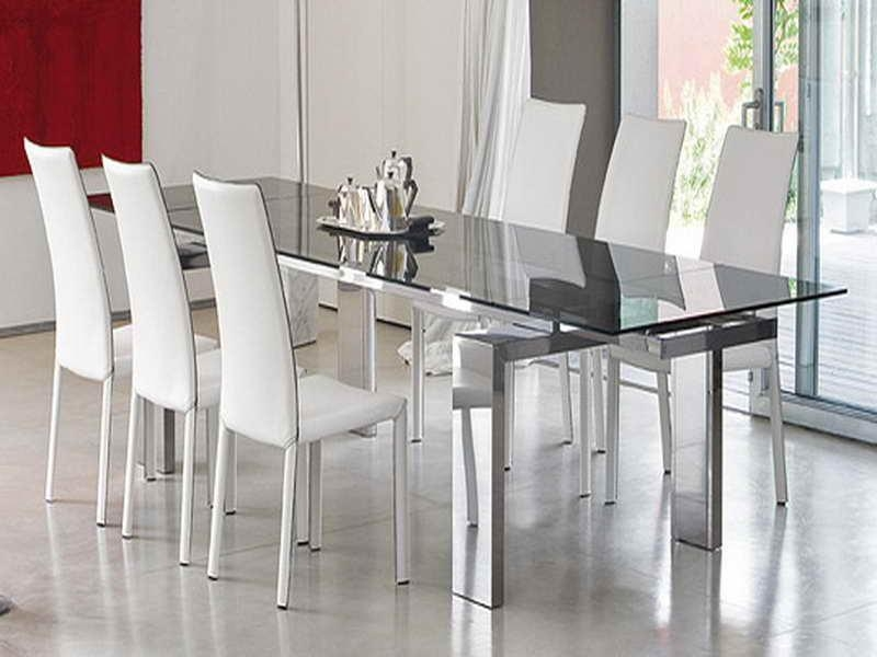 Modern Glass Dining Room Tables With Worthy Modern Dining Table Regarding Glass Dining Tables Sets (Image 18 of 20)