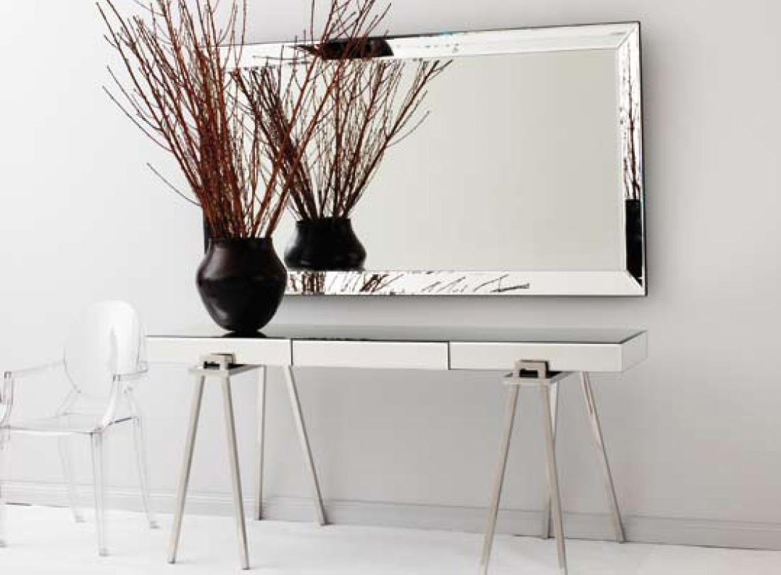 Modern Hall Console Table With Mirror With Rowico Lulworth Hand Intended For Modern Hall Mirrors (Image 16 of 20)