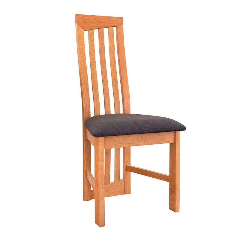 Modern High Back Dining Chairs. Natural Cherry (Image 15 of 20)