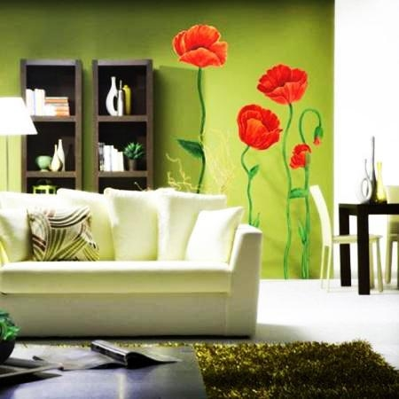 Modern Home Decorating With Wall Stickers, Decals And Vinyl Art Ideas Regarding Wall Art For Green Walls (Image 18 of 20)