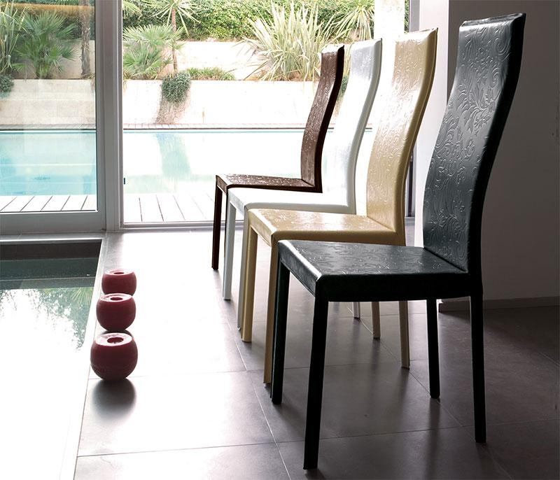 Modern Unico Onda Real Leather Dining Chair Choice Of Colour Throughout Real Leather Dining Chairs (Image 15 of 20)