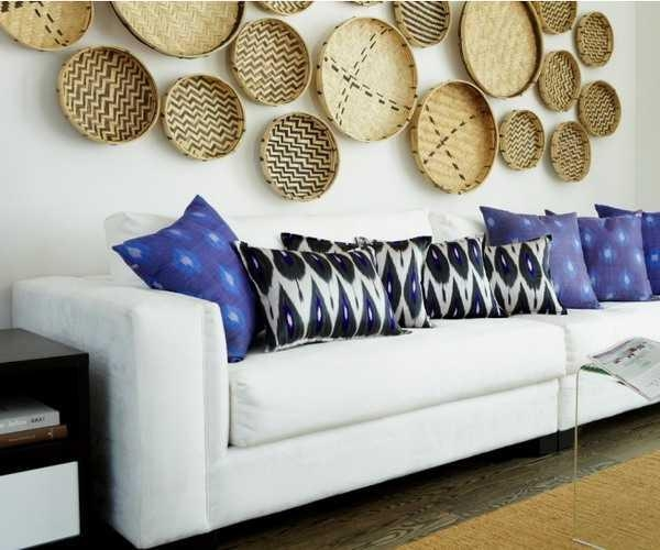 Modern Wall Decoration With Ethnic Wicker Plates, Bowls And Baskets Inside Decorative Plates For Wall Art (Image 17 of 20)