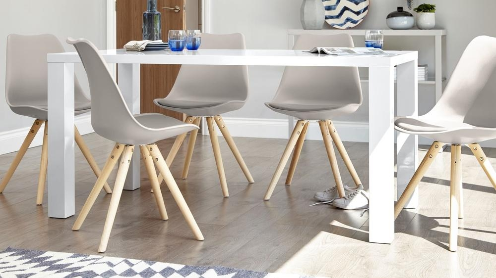 Modern White Gloss Dining Table | 6 Seater Table | Uk Intended For Recent White Gloss Dining Furniture (View 14 of 20)