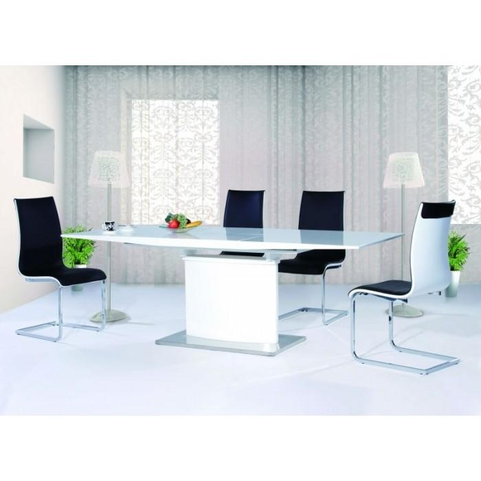 Modern White Gloss Dining Table | The Media News Room Regarding Most Up To Date Glass And White Gloss Dining Tables (Image 13 of 20)