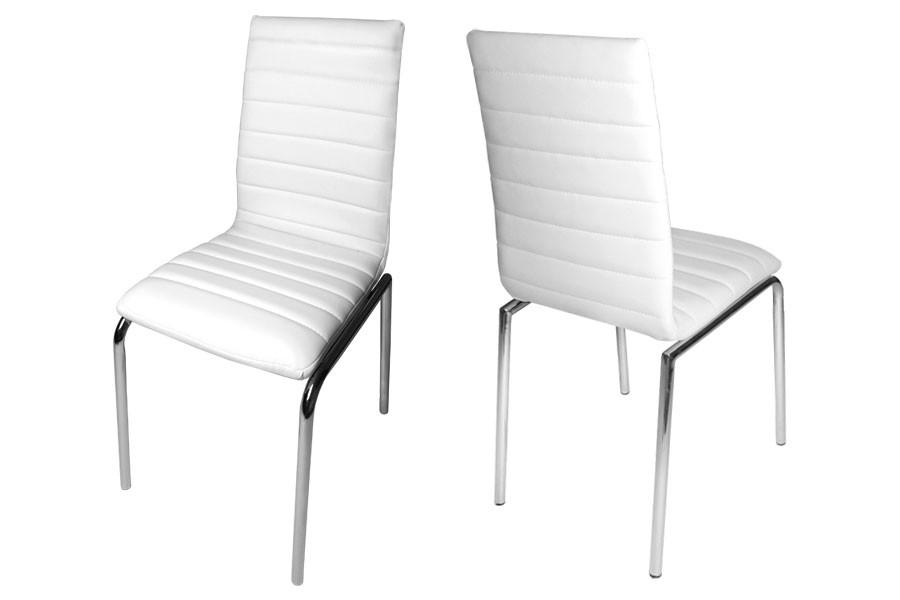 Modern White Leather Dining Chairs | Dining Chairs Design Ideas Throughout Most Recently Released White Dining Chairs (Image 16 of 20)