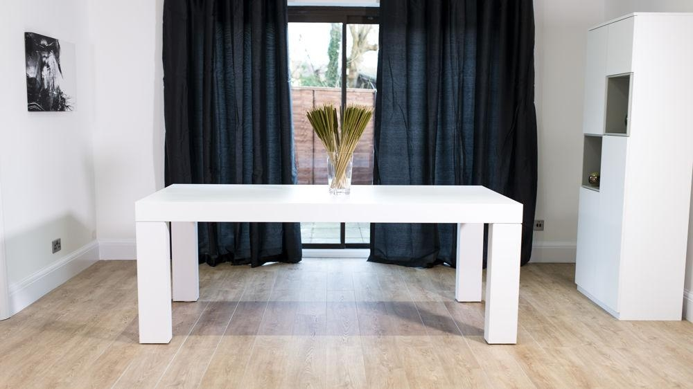 Modern White Oak Dining Table | 6 – 8 Seater | Uk Delivery Pertaining To Most Popular White Dining Tables 8 Seater (Image 15 of 20)