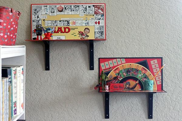 Modify: Make Your Own Easy Game Board Shelves 3 Ways, Diy Simple Within Board Game Wall Art (Image 12 of 20)
