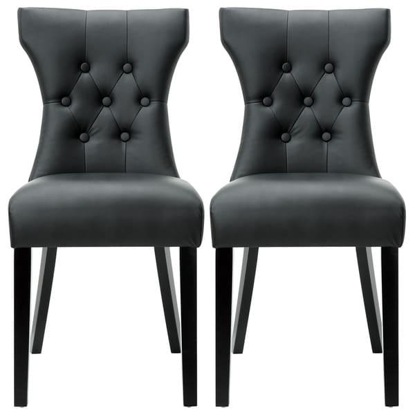 Modway Silhouette Modern Black Dining Chairs (Set Of 2) – Free For Latest Black Dining Chairs (View 6 of 20)