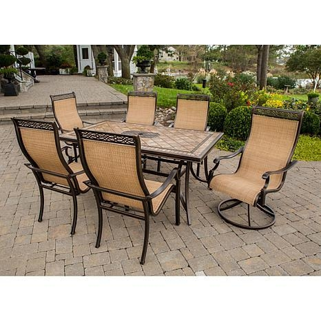 Monaco 7 Piece Outdoor Dining Set – 7461251 | Hsn With Latest Monaco Dining Sets (View 16 of 20)