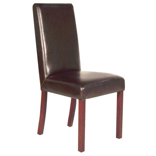 Monaco Dark Brown Leather Dining Chair – Free Shipping Today Throughout Most Recently Released Dark Brown Leather Dining Chairs (Image 10 of 20)