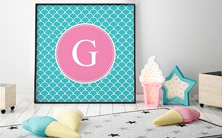 Monogrammed Wall Art – Wall Art Pertaining To Monogrammed Wall Art (Image 13 of 20)