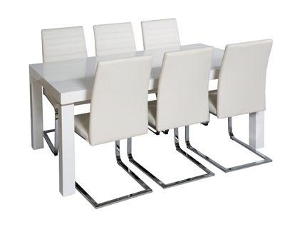 Morano Dining Table And 4 Alcora Chairs In White | Dining Room Regarding Current Alcora Dining Chairs (Image 20 of 20)