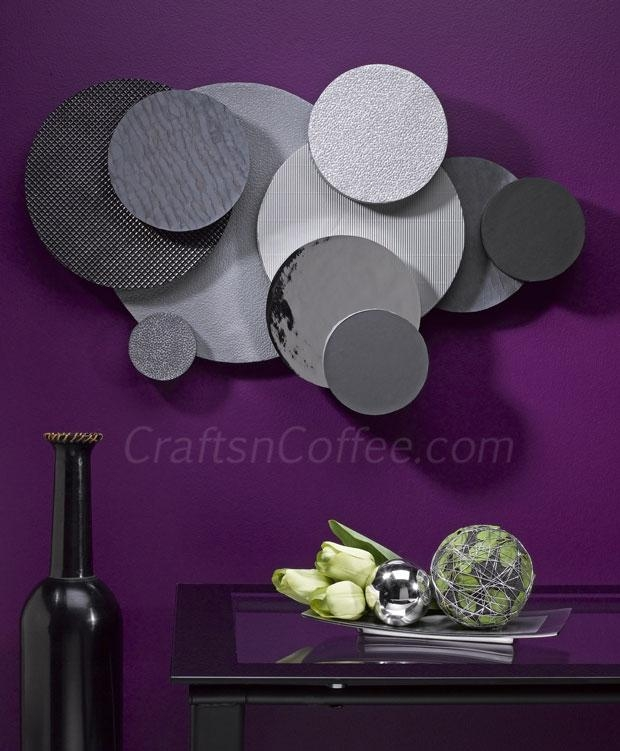 "More Diy Wall Art: Who Would Guess This ""Metal"" Art Is Really In Diy Metal Wall Art (Image 16 of 20)"