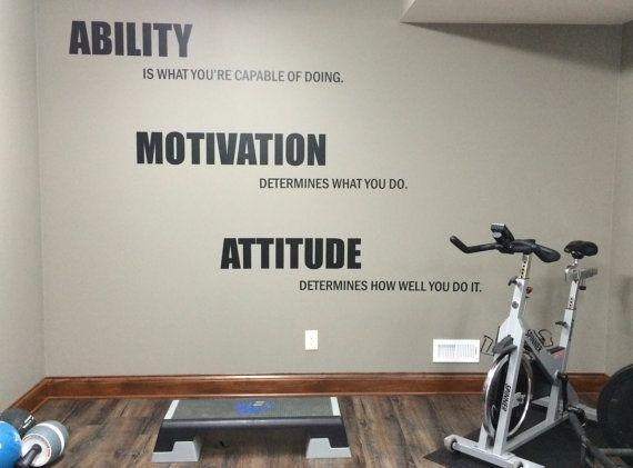 Motivational Quote Gym Wall Decal (Image 17 of 20)