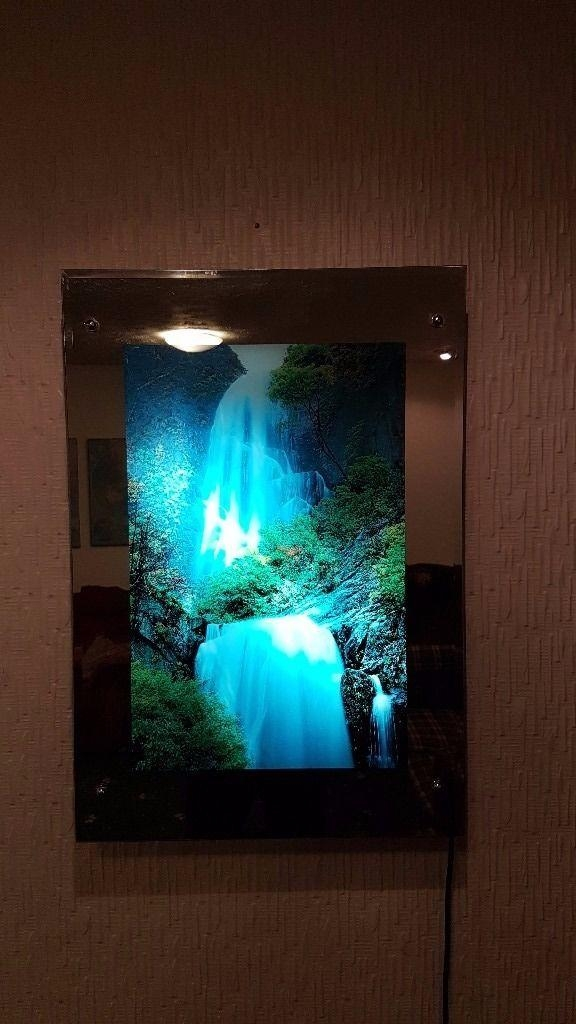 Moving Waterfall Mirror Picture – Wall Art With Relaxing Optional With Moving Waterfall Wall Art (Image 9 of 20)