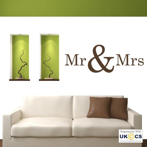 Mr Mrs Bedroom Love Quote Wall Art Stickers Decals Vinyl Decor With Mr And Mrs Wall Art (Image 11 of 20)