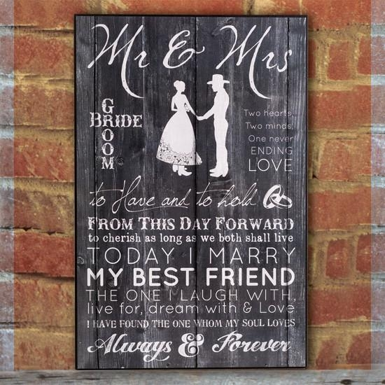 & Mrs Wall Art For Mr And Mrs Wall Art (Image 1 of 20)