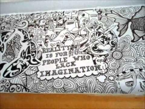Mural Using Sharpies – Youtube With Sharpie Wall Art (Image 12 of 20)