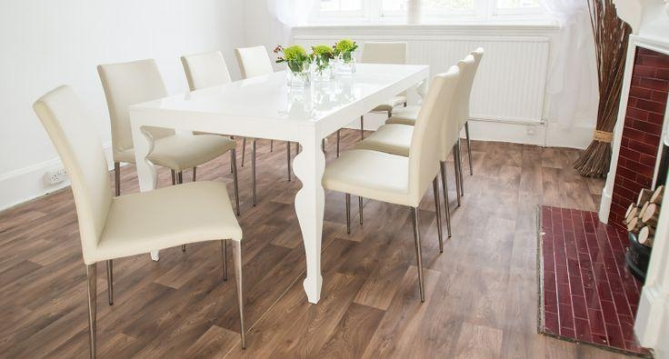 Muse White High Gloss | Kitchen | Pinterest | High Gloss, Dining In Latest Large White Gloss Dining Tables (Image 13 of 20)