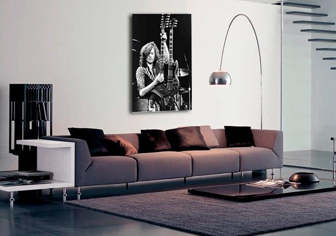 Music Jimmy Page Led Zeppelin Canvas Art|Buy Music Jimmy Page Led In Led Zeppelin Wall Art (Image 10 of 20)