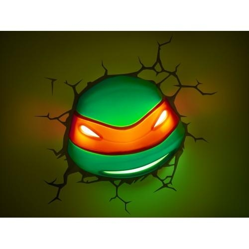 Mutant Ninja Turtles 3D Wall Art Nightlight – Raphael Intended For Tmnt Wall Art (Image 9 of 20)