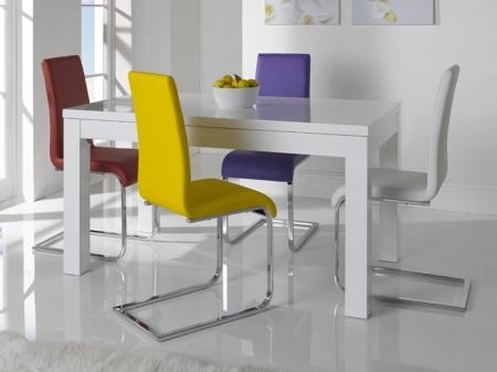 Narrow Dining Table As Round Dining Table And Fancy White High With Regard To Most Recently Released Oval White High Gloss Dining Tables (Image 12 of 20)