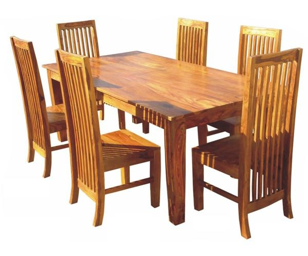 Natural Living Furniture  Wooden Sheesham Hardwood Rosewood Regarding Latest Sheesham Wood Dining Chairs (Image 11 of 20)
