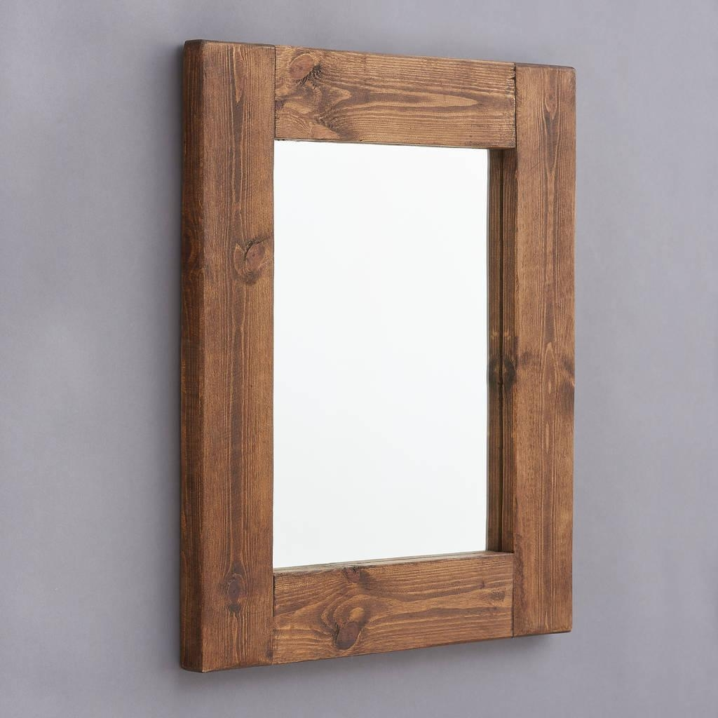 Natural Wood Mirror Within Natural Wood Framed Mirrors (Image 10 of 20)