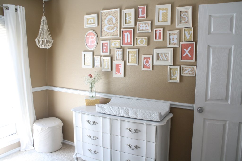 Neutral Nursery With Pops Of Color – Project Nursery Throughout Nursery Framed Wall Art (Photo 16 of 20)