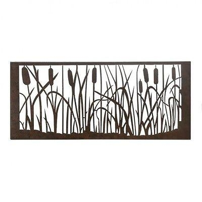New Metal Wall Art Large Sculpture Nature Home Decor Rectangle Throughout Rectangular Metal Wall Art (Image 14 of 20)