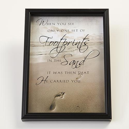 New View Footprints In The Sand Wall Decor | Boscov's Inside Footprints In The Sand Wall Art (View 2 of 20)