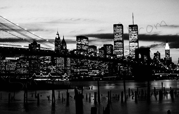 New York City Canvas Monochrome In New York Skyline Canvas Black And White Wall Art (Image 8 of 20)