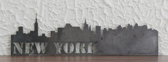 New York City Skyline Metal Art Work Skyscrapers Modern With Metal Wall Art New York City Skyline (Image 14 of 20)
