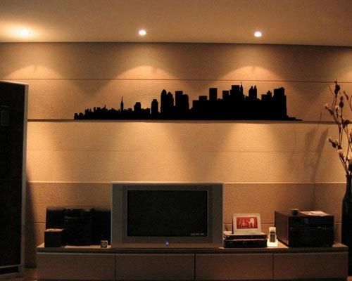 New York Skyline Wall Art Decal For Metal Wall Art New York City Skyline (View 3 of 20)