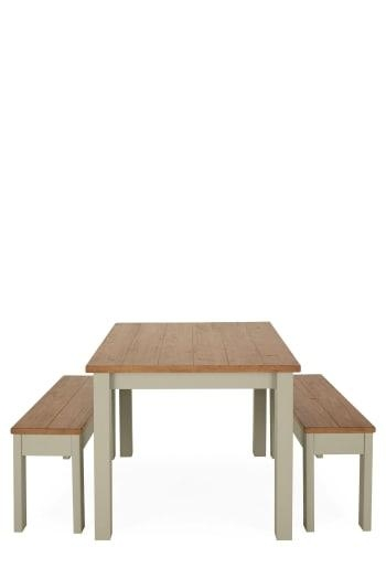 Next Hudson Dining Table And Bench Set, Brown | Bluewater | £ (Image 16 of 20)