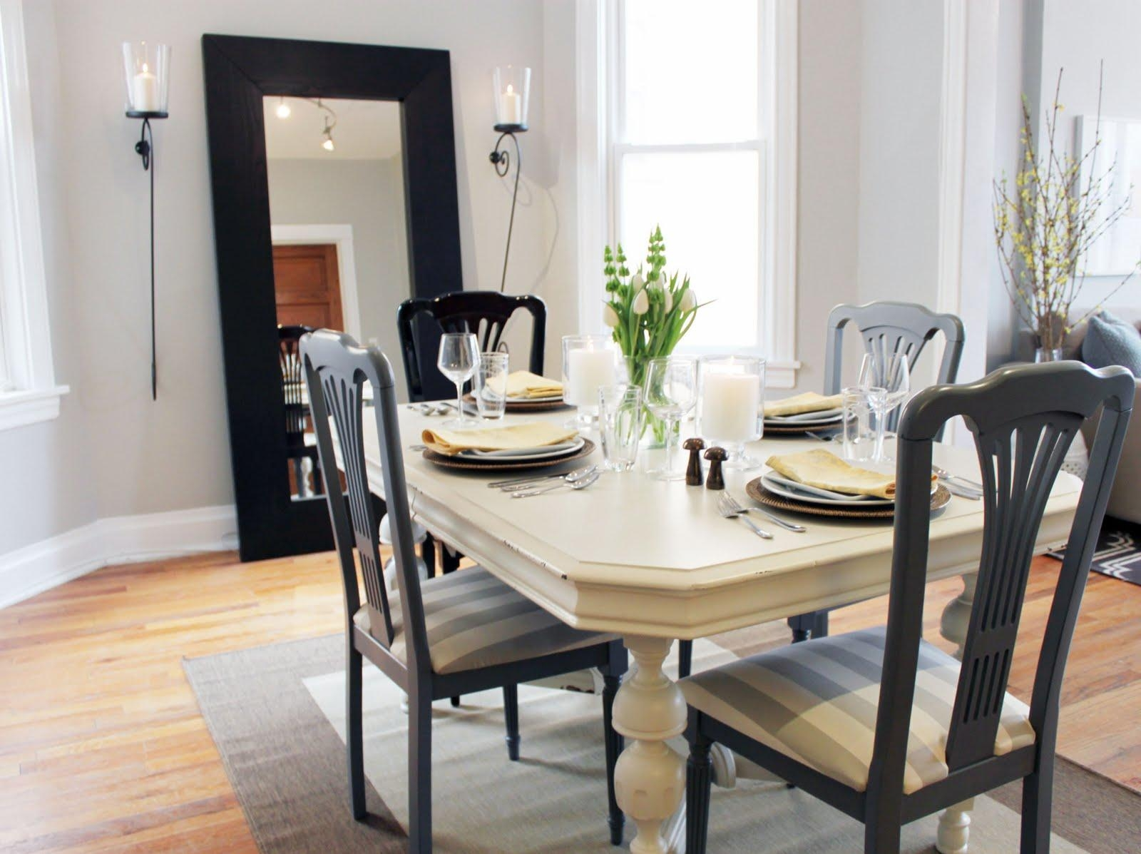 Nice Minimalist Black Mirror Dining Room Decoration That Can Be With Regard To Dining Mirrors (Image 17 of 20)
