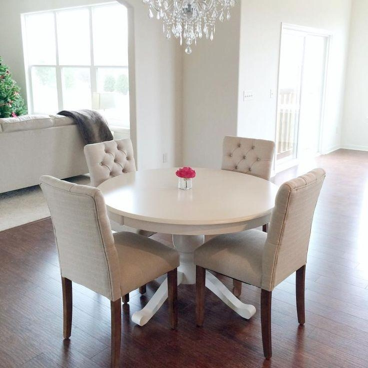 Nice Small White Dining Table And Chairs Best 10 Small Dining Room Intended For Best And Newest White Dining Tables (View 8 of 20)