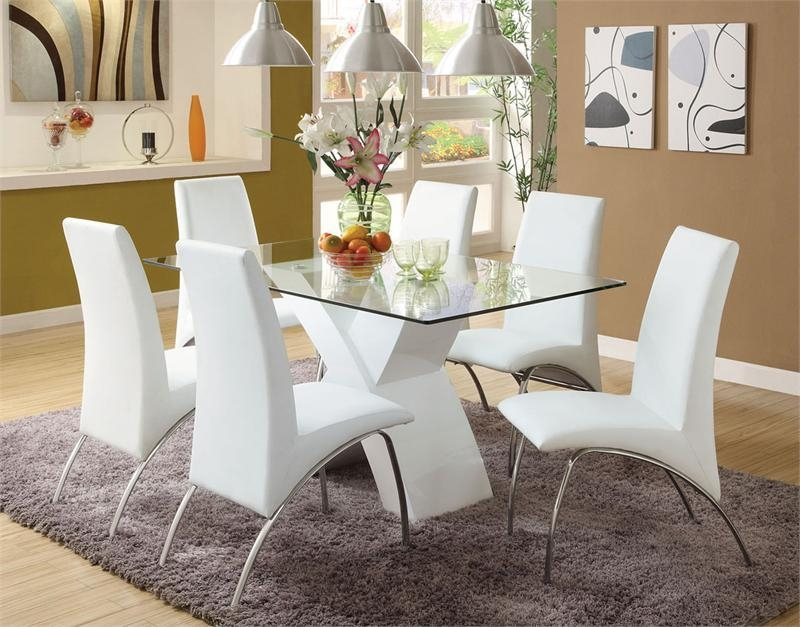 Nice White Dining Room Table And Chairs | Modern Table Design In Latest White Dining Tables And Chairs (View 10 of 20)